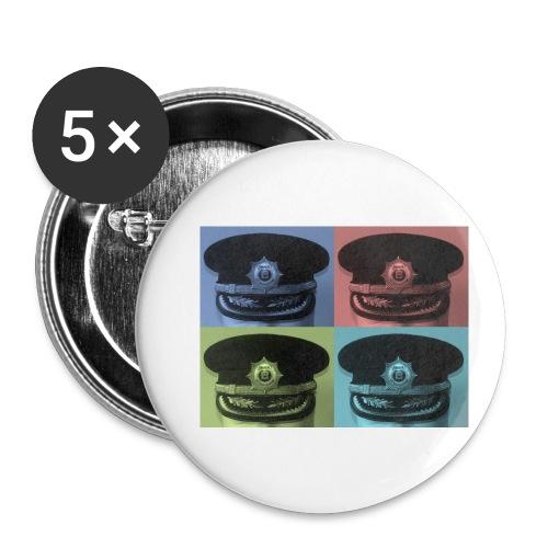 kepis - Paquete de 5 chapas pequeñas (25 mm)