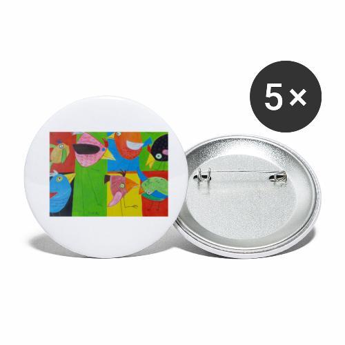 Lovebirds - Liebesvögel - Buttons klein 25 mm (5er Pack)
