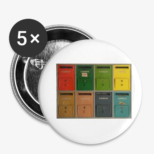 Briefkasten - Buttons klein 25 mm (5er Pack)