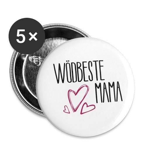 Wödbeste Mama - Buttons klein 25 mm (5er Pack)