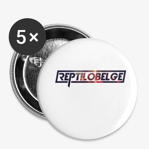 M1.2 Reptilobelge - Lot de 5 petits badges (25 mm)