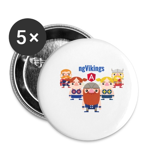 Viking Friends - Buttons small 1''/25 mm (5-pack)