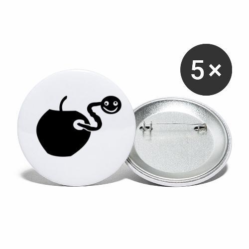Wurm drin? - Buttons klein 25 mm (5er Pack)