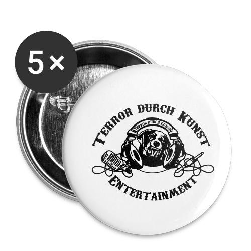 tdklogoschwarz 3 - Buttons klein 25 mm (5er Pack)