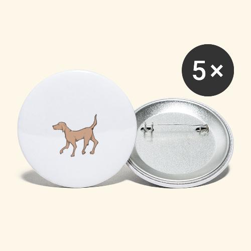 dog - Buttons klein 25 mm (5-pack)