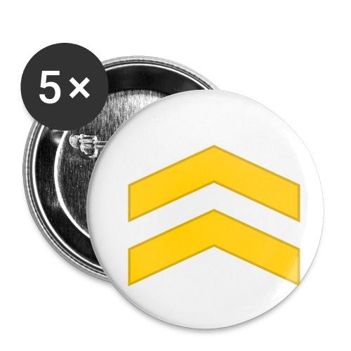 Alikersantti - Rintamerkit pienet 25 mm (5kpl pakkauksessa)