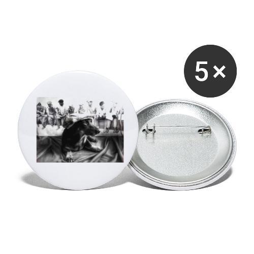 Sky Dog 2 - Buttons klein 25 mm (5er Pack)