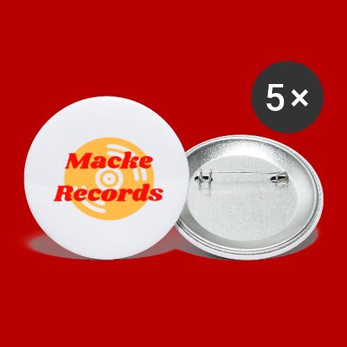 mackerecords merch - Små knappar 25 mm (5-pack)