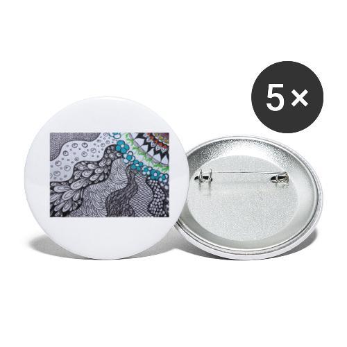 Pattern Contest #01 - Confezione da 5 spille piccole (25 mm)