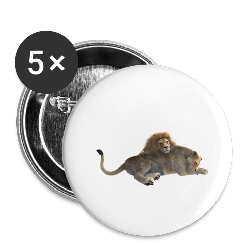 LÖWE - Buttons klein 25 mm (5er Pack)