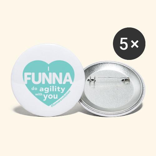 I FUNNA Do Agility With You! Turquoise - Rintamerkit pienet 25 mm (5kpl pakkauksessa)