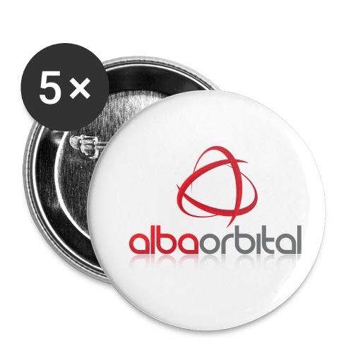 Alba Orbital's Offical Logo - Buttons small 1''/25 mm (5-pack)