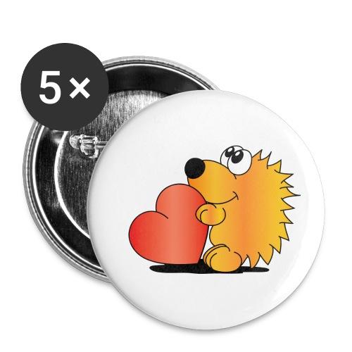 Igelchen - Buttons klein 25 mm (5er Pack)