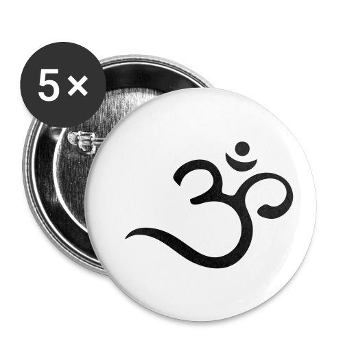 Om Mantra Symbol Yoga - Buttons klein 25 mm (5er Pack)