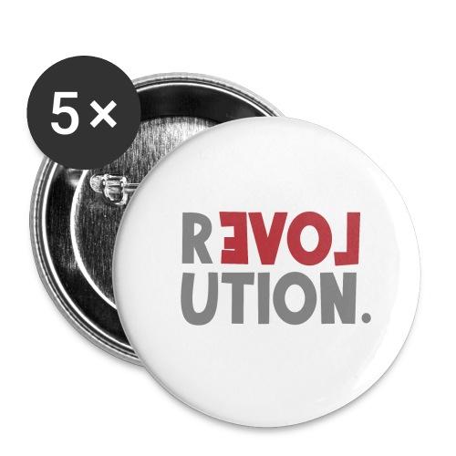 Revolution Love Sprüche Statement be different - Buttons klein 25 mm (5er Pack)