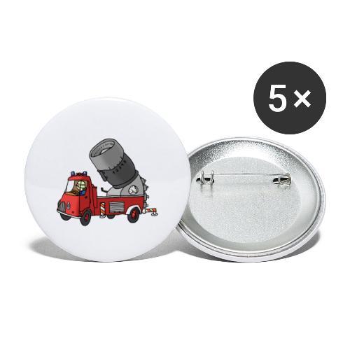 Wasserwerfer - Buttons klein 25 mm (5er Pack)
