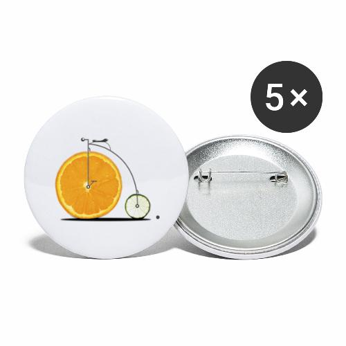 Fruit Bicycle - Buttons small 1''/25 mm (5-pack)