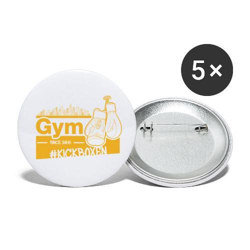 Gym Druckfarbe Orange - Buttons klein 25 mm (5er Pack)