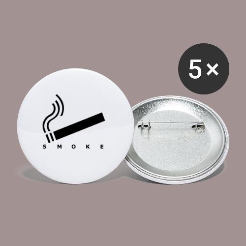smoke - Buttons klein 25 mm (5er Pack)