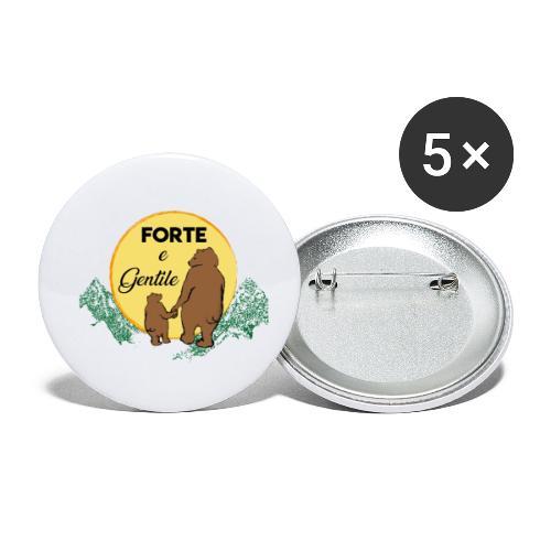 Forte e gentile - Confezione da 5 spille piccole (25 mm)