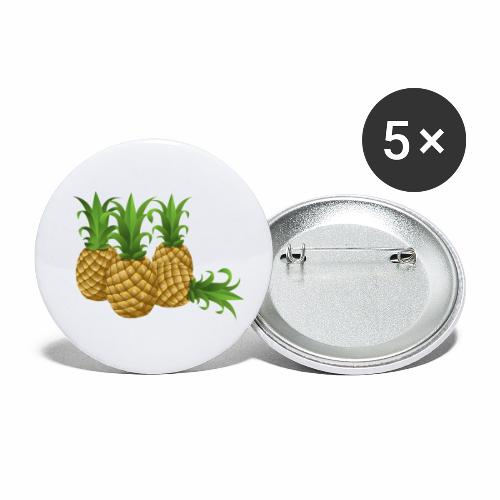 Ananas - Buttons klein 25 mm (5er Pack)