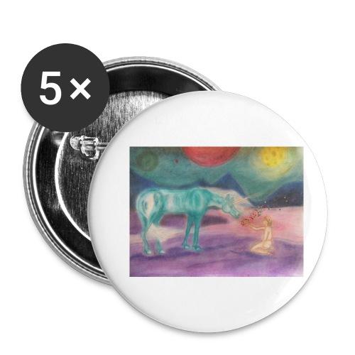 Einhornzauber - Buttons klein 25 mm (5er Pack)