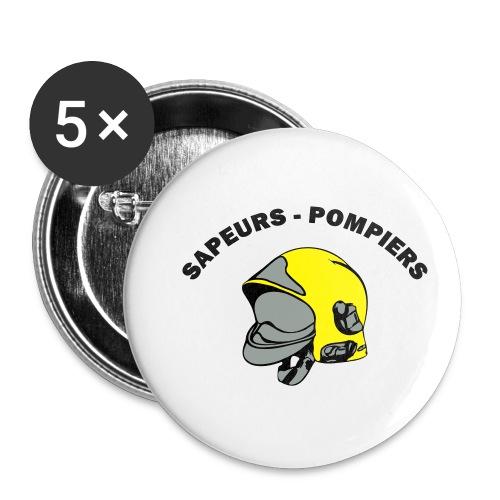 casque couleur - Lot de 5 petits badges (25 mm)