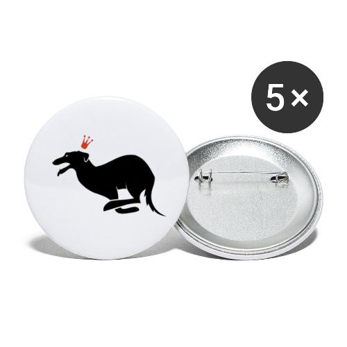 Galgo rey - Paquete de 5 chapas pequeñas (25 mm)