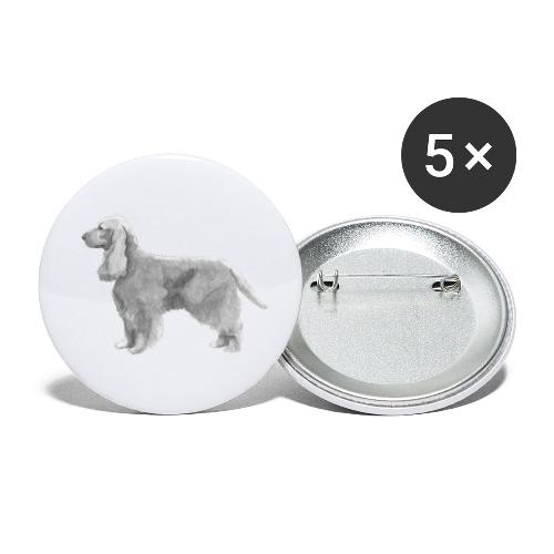 English cocker spaniel golden - Buttons/Badges lille, 25 mm (5-pack)