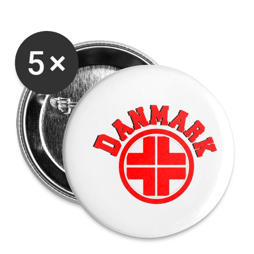 Denmark - Buttons small 1''/25 mm (5-pack)