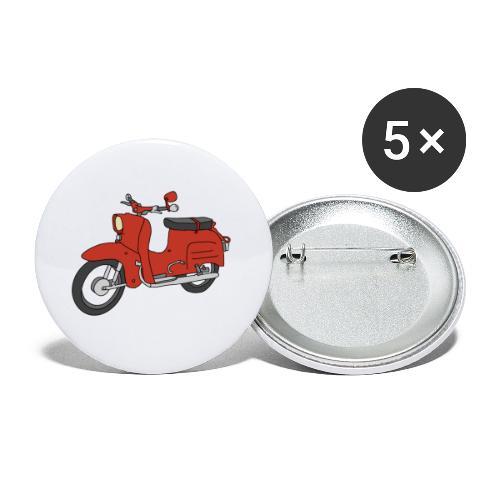 Schwalbe (ibizarot) - Buttons klein 25 mm (5er Pack)