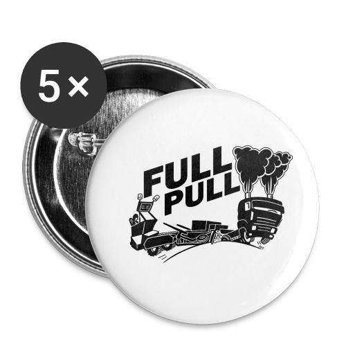full pull black landscape - Buttons klein 25 mm (5-pack)