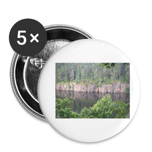 Laatokan maisemissa - Rintamerkit pienet 25 mm (5kpl pakkauksessa)