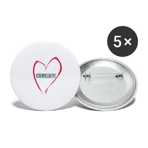 Bio Heimat - Buttons klein 25 mm (5er Pack)