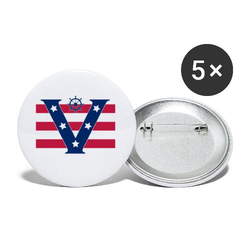 VICTORY - Buttons small 1''/25 mm (5-pack)