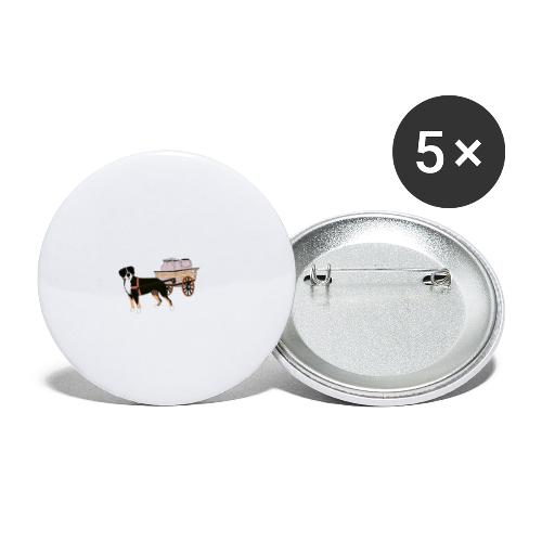 Grosser Drag - Små knappar 25 mm (5-pack)