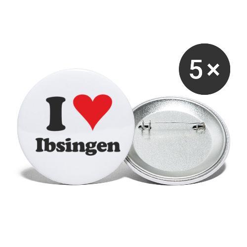 I Love Ibsingen - Buttons klein 25 mm (5er Pack)