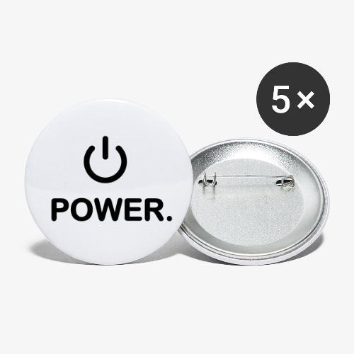 power - Lot de 5 petits badges (25 mm)