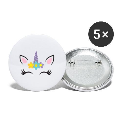 Unicornio - Paquete de 5 chapas pequeñas (25 mm)