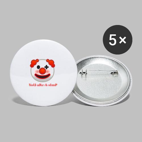Clown Emoji - Buttons klein 25 mm (5-pack)