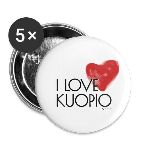 I LOVE KUOPIO 2020 - Rintamerkit pienet 25 mm (5kpl pakkauksessa)