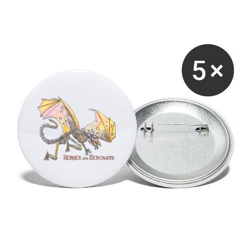 Bonedragon - Buttons klein 25 mm (5er Pack)