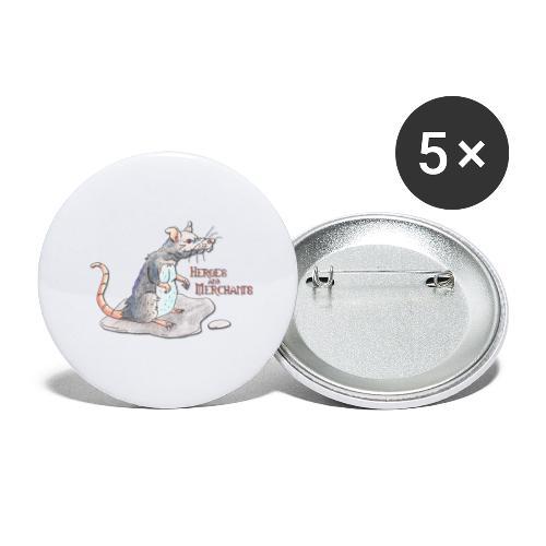 Rat - Buttons klein 25 mm (5er Pack)