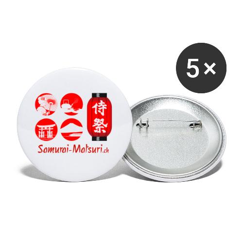 Samurai Matsuri Festival - Buttons klein 25 mm (5er Pack)