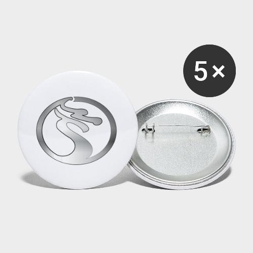 LOGO DRAGON PLATA - Paquete de 5 chapas pequeñas (25 mm)