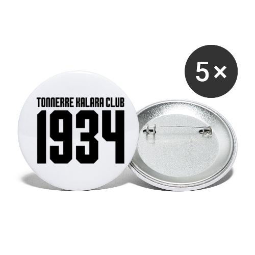 TKC 1934 sérigraphié noir - Lot de 5 petits badges (25 mm)