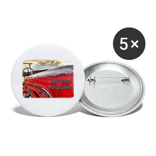 Zeit zum vorglühen - Buttons klein 25 mm (5er Pack)