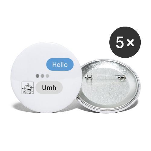 HelloBot - Lot de 5 petits badges (25 mm)