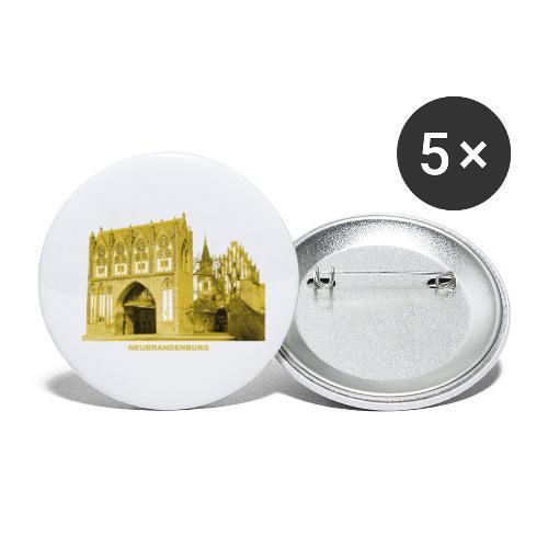 Neubrandenburg Stargarder Tor Mecklenburg - Buttons klein 25 mm (5er Pack)