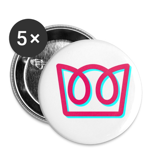 Neon Crown - Buttons small 1''/25 mm (5-pack)